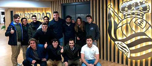 Alumnos de LaLiga Business School en el Reale Arena, Gipuzkoa (España)