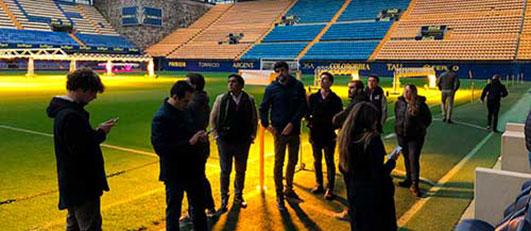Alumnos de LaLiga Business School en el Estadio de la Cerámica, Castellón (España)